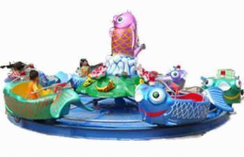 2020  室内儿童游乐设备8臂鲤鱼跳龙门 郑州大洋鲤鱼跳龙门现货供应游艺设施厂家示例图6