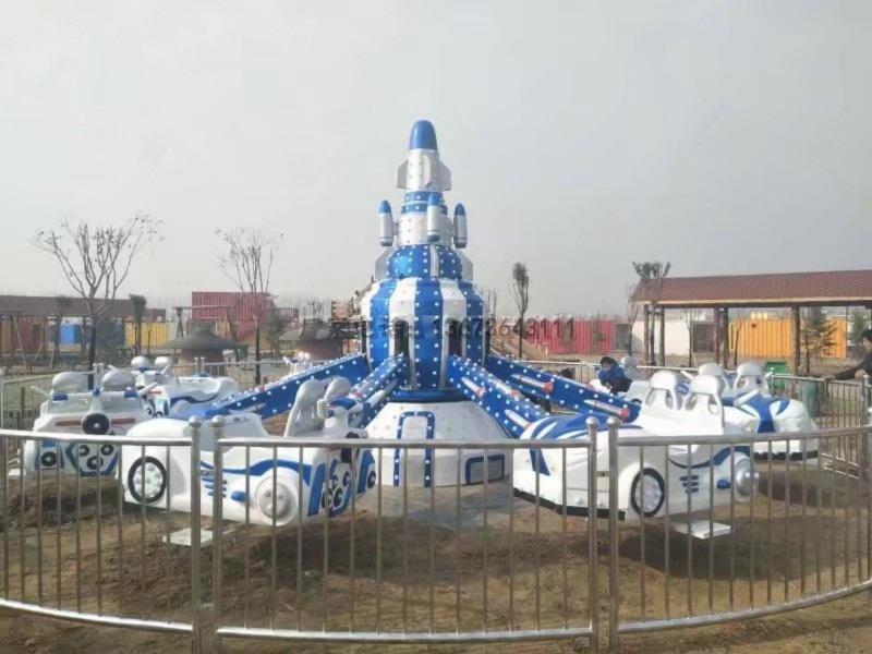 2020 郑州大洋自控飞机儿童游乐设备 旋转升降8臂自控飞机公园游乐项目游艺设施厂家示例图5