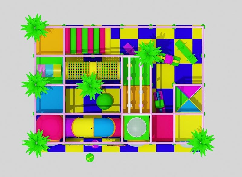 厂家直销淘气堡儿童游乐园  郑州大洋专业定制室内淘气堡项目儿童游艺设施设备示例图2