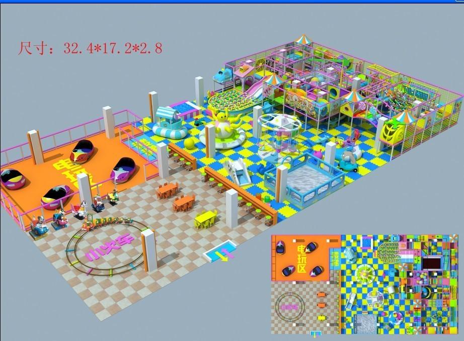 厂家直销淘气堡儿童游乐园  郑州大洋专业定制室内淘气堡项目儿童游艺设施设备示例图6