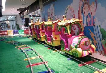 公园户外儿童游乐轨道小火车 迎十一现货供应轨道火车游乐项目示例图3