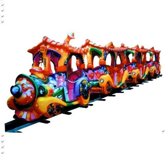 十一现货供应 轨道小火车 精品推荐卡通轨道火车儿童游乐设备示例图3