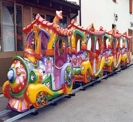 公园户外儿童游乐轨道小火车 迎十一现货供应轨道火车游乐项目示例图7