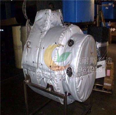 拉丝机保温套 拉丝机保温衣 可拆卸拉丝机保温罩 挤出机隔热套 注塑机隔热罩 干燥机隔热套 料斗隔热罩 料筒隔热套示例图1