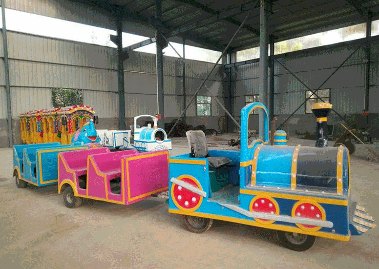 2020仿古观光火车儿童游乐设备 郑州无轨观光火车大洋生产厂家直销游艺设施示例图2