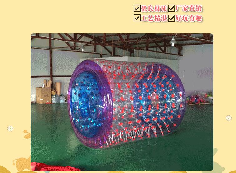 夏季畅销广场水上滚筒 专业定制休闲娱乐水上滚筒大洋游乐设备儿童游艺设施厂家示例图3