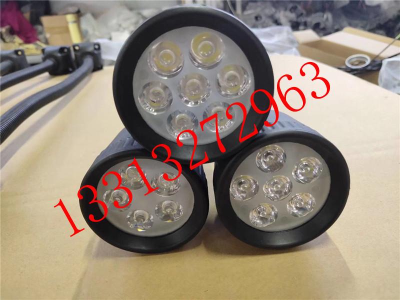 220VLED分散片照明灯 50D软管万向小方座工作灯 5珠工作灯 LED机床工作灯示例图14