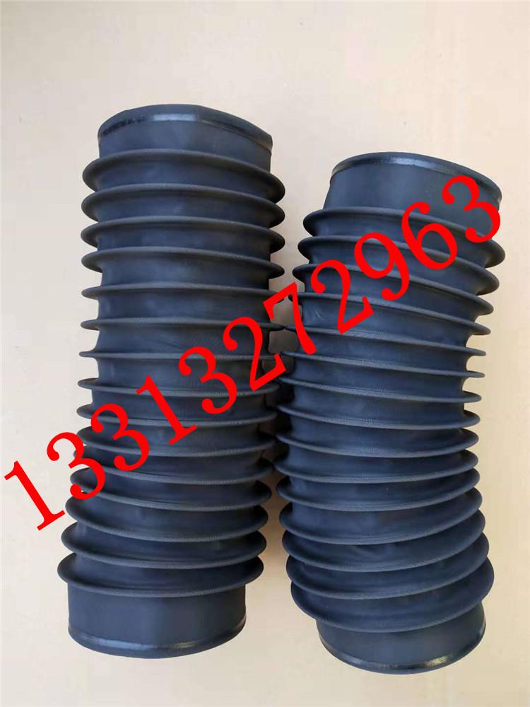 圆筒伸缩式丝杠防护罩 油缸圆形防尘罩 气缸光轴保护套 伸缩式圆形防护罩可以水平或垂直使用示例图3