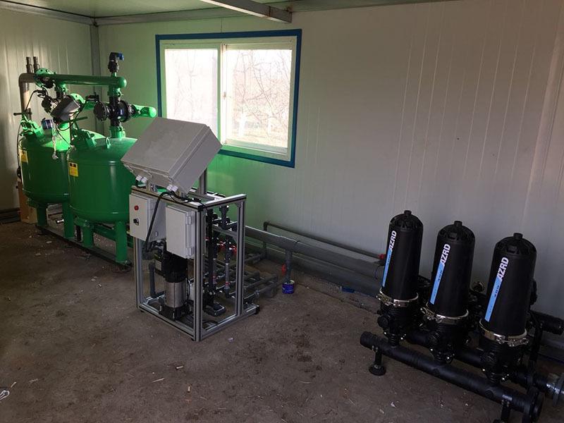农场灌溉施肥一体化系统首部灌溉水过滤 圣大节水 砂石过滤器 介质过滤器 河水湖水过滤设备示例图13