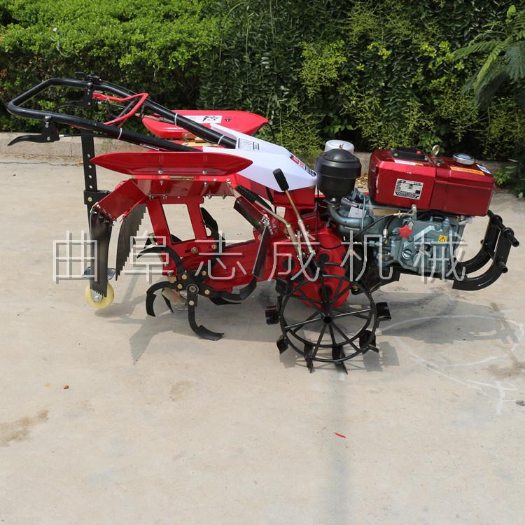 新型后旋式四驱微耕机 大棚翻地松土机 ZC-188型手扶式柴油开沟机志成机械示例图1
