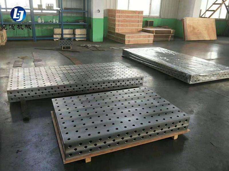 铸铁三维焊接平台 多孔焊接平台 三维柔性焊接工作台 专业生产厂家泊头亮健机械示例图2