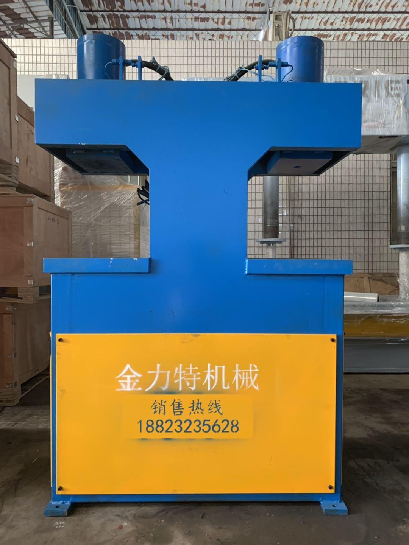 佛山金力特JLT802廠家批發不銹鋼門雙頭鎖孔機,不銹鋼門液壓雙頭沖床,銅門鎖孔機及模具示例圖2