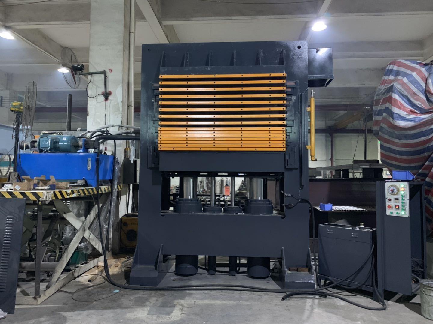 亨力特hlt3248-600t三聚氰氨貼面熱壓機,木工家具貼面熱壓機,生態板貼面熱壓機,尺寸非標可以定制示例圖18