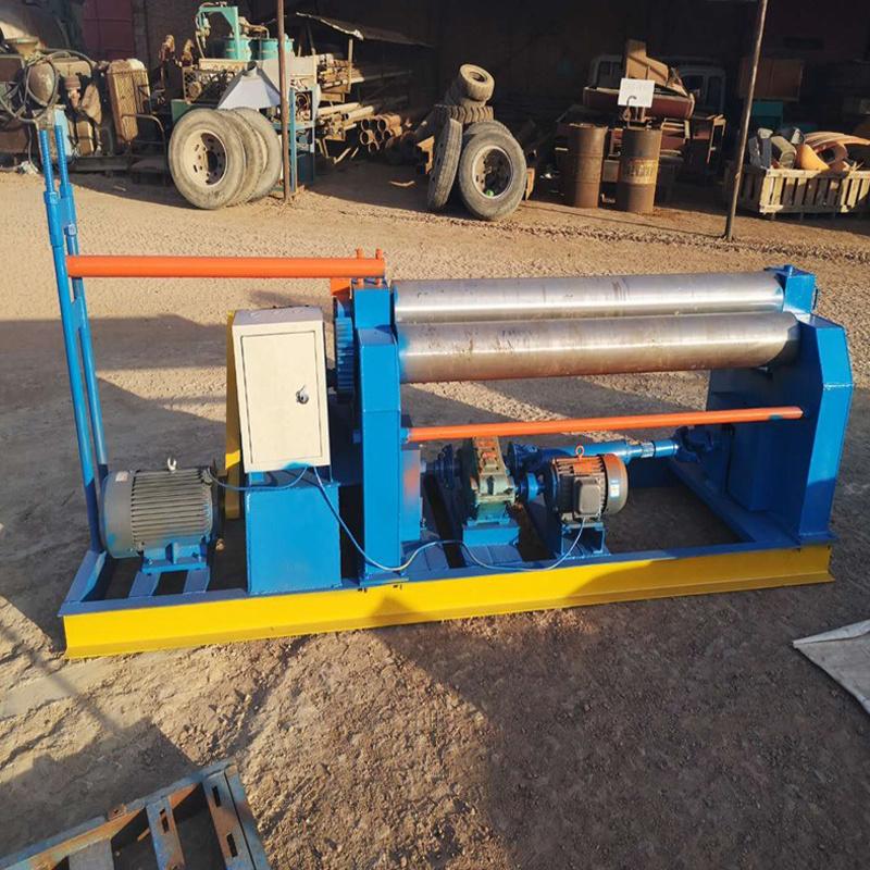 全自動機械卷板機廠家 歐特鐵皮鋼板三輥卷圓機 OT6X1500三棍對稱卷板機示例圖8